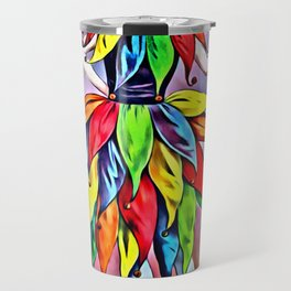 ART DECO LADY IN HARLEQUIN Travel Mug