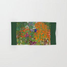 Flower Garden Bauerngarten Klimt Garden Floral Oil Painting Hand & Bath Towel