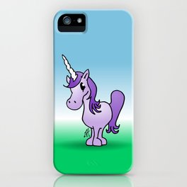 Purple Unicorn iPhone Case