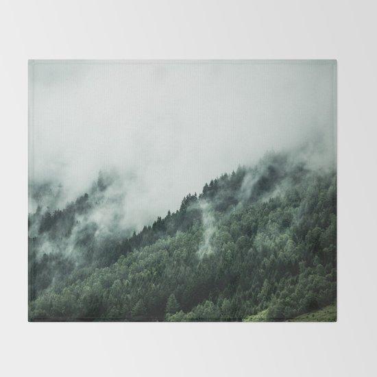 Foggy Woods 1 Throw Blanket