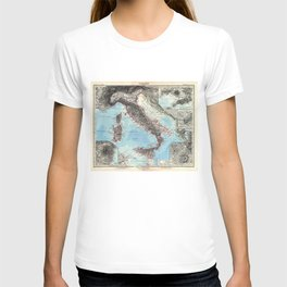 Vintage Map of Italy (1891) T-shirt