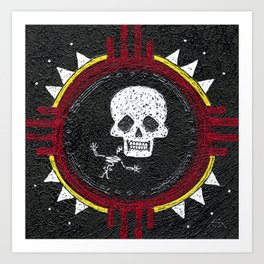 Zia Skeleton Art Print