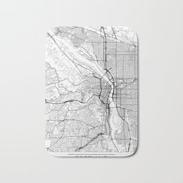 Portland Map White Bath Mat