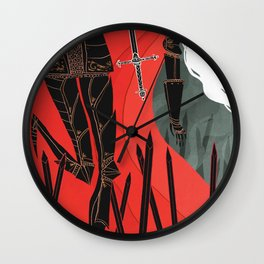 Knight of Swords Wall Clock