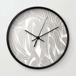 Silver & White Wall Clock