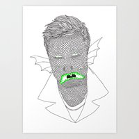 mike wrobel Art Prints featuring Mike by clemfaster