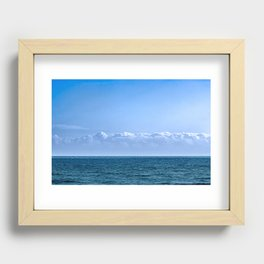 Large Cloud Sky Recessed Framed Print