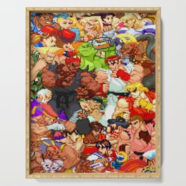 Street Fighter Alpha - Fight! Serving Tray