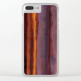 Wildfire Watercolor Stripe Clear iPhone Case