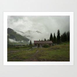 Mountain Cabin Art Print