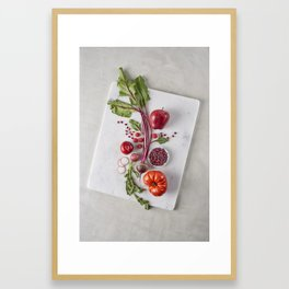 Red Organic Fruits and Vegetables Framed Art Print