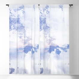 Watercolor sunset Blackout Curtain