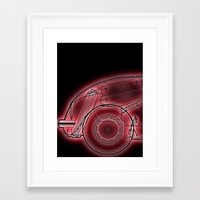 neon Framed Art Prints featuring Neon by Fernando Vieira