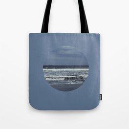 Blue sea, blue sky Tote Bag