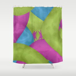 Crisp Contamination Shower Curtain