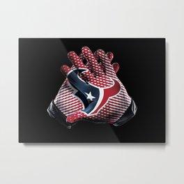 Houston Gloves Metal Print