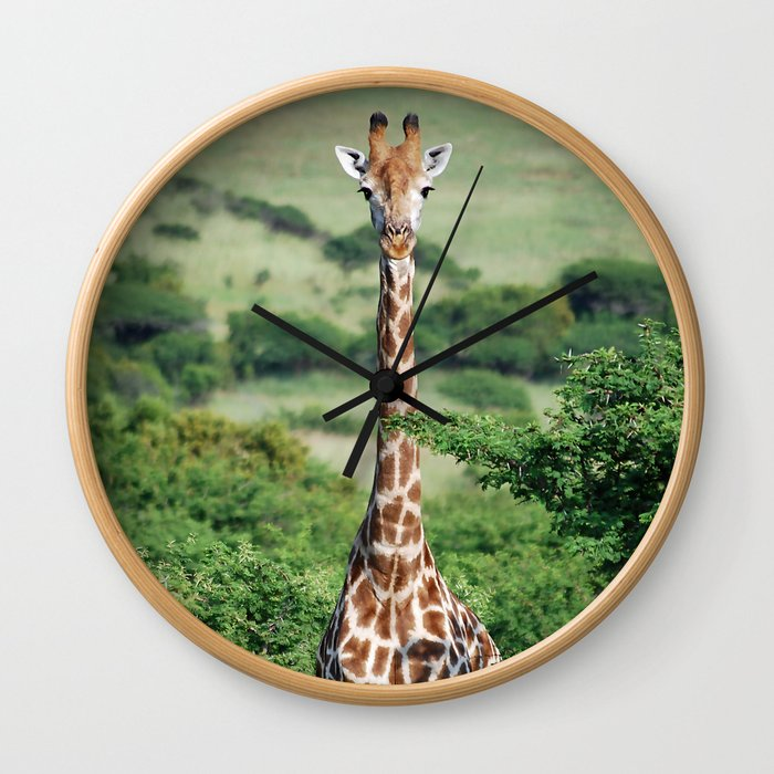 Giraffe Standing tall Wall Clock