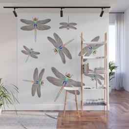 Rainbow Dragonfly II Wall Mural