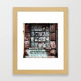 Lower East Side Graffiti & Sticker Vignette Framed Art Print