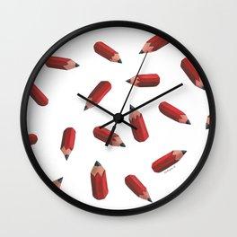 flying pencils (transparent) Wall Clock