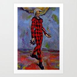 "Paul Cezanne ""Harlequin"" (1889) Art Print"