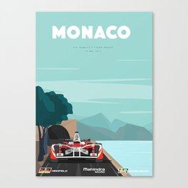 Mahindra Racing FIA Formula E Season Three Race 05 Monaco ePrix Poster Canvas Print