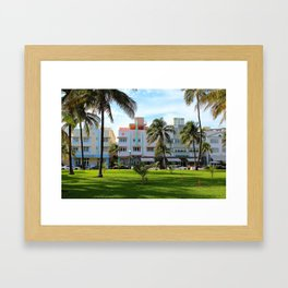 Retro Miami Framed Art Print