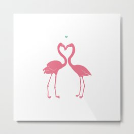 I'm Flamingoing Crazy without you Metal Print