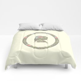 floral silhouette Comforters