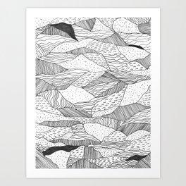 Broken Waves Art Print