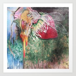 Plight of the Honey Bee Art Print