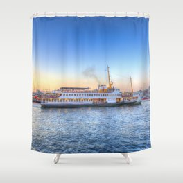 Pleasure Cruise Boat Istanbul Shower Curtain