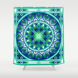 Sacred Places Green Shower Curtain