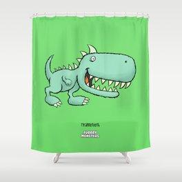 Tyrannotooth Shower Curtain