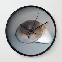 shell Wall Clocks featuring Shell by Shalisa Photography