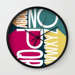 ALPHABET 1 Wall Clock