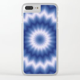 White and blue Clear iPhone Case
