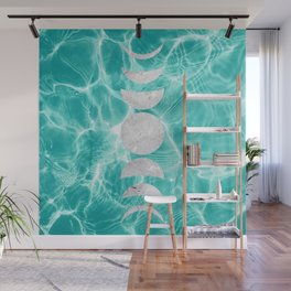 Pool Dream Moon Phases #1 #water #decor #art #society6 Wall Mural