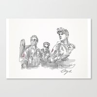 ghostbusters Canvas Prints featuring Ghostbusters. by AmyLianneMuir