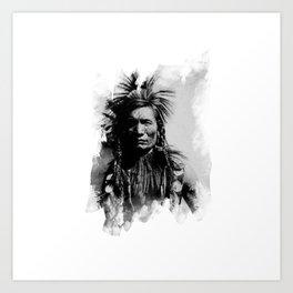Classic Native Indian Chief Art Print