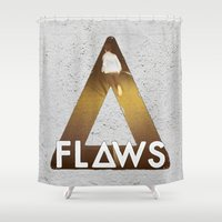 bastille Shower Curtains featuring Bastille #1 Flaws by Thafrayer