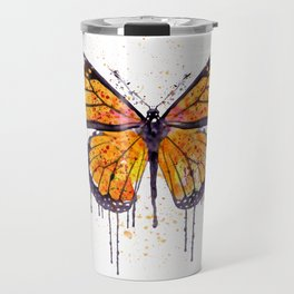 Monarch Butterfly watercolor Travel Mug