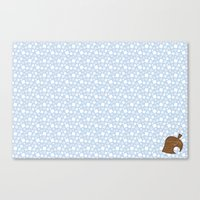 animal crossing Canvas Prints featuring Animal Crossing Winter Leaf by Rebekhaart