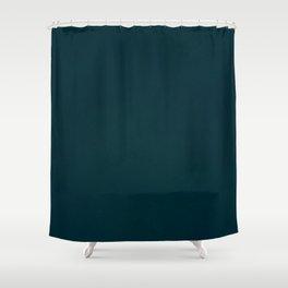 color trend petrol dark blue plain Shower Curtain