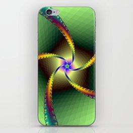 Whirligig in Green iPhone Skin