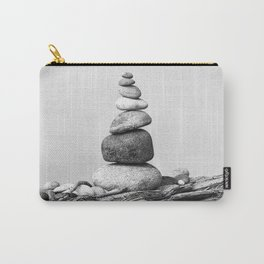 Balance of Nature peppel cairn black white Carry-All Pouch
