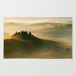 Sunrise in Val D'Orcia Rug