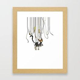 "Lili B. ""Entangled cat"" Framed Art Print"