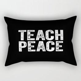 Teach Peace - vintage Rectangular Pillow
