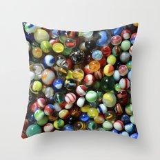 Vintage Marbles Throw Pillow